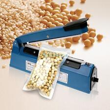"""300W 200mm 8"""" Impulse Heat Sealer PE PP Plastic Film Sealing Machine Food Bag UK"""