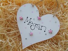 Personalised Bedroom Name Heart Plaque Any Name