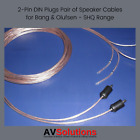 10 Mtrs. Speaker Cables (2-Pin DIN Plugs, Pair, SHQ) for Bang & Olufsen B&O OFC