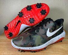 Nike Roshe G Tour NRG Mens Spiked Golf Shoes Green Camo White Red SZ BQ4813-200
