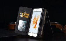 For iPhone 6 4.7 Wallet leather Multi-Function Bag Card Holder Case Cover BRG