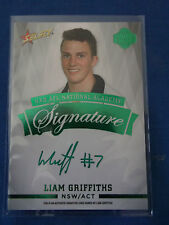 2014 SELECT FUTURE FORCE NAB AFL GREEN SIGNATURE LIAM GRIFFITHS  FFGS9  #31