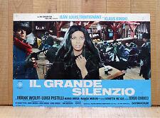 IL GRANDE SILENZIO fotobusta poster Corbucci Merlini Trintignant Western CG24