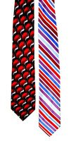 Lot of 2 Mens Neck Tie Red Stafford Alexander Julian Colours