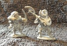 DUNGEON & DRAGONS VINTAGE LEAD FIGURES CHAOS KNIGHT/ BOWMAN(GRAVEL BASE FINISH)