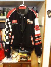 Dale Earnhardt Jr BLACK CHECK Leather Suede Jacket Coat  Chase #8