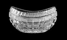 Vintage Lovely Small Cut Glass Kidney Shaped Bowl