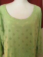 Hearts Of Palm Woman's Plus Chartreuse Top NWT 3x Retail $58.00