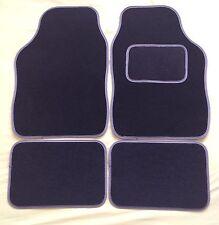 BLACK WITH GREY TRIM CAR FLOOR MATS FOR PEUGEOT 106 107 206 207 307 308 407