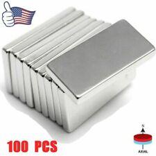 100pcs 20x10x2mm N52 Neodymium Block Magnet Super Strong Rare Earth Magnets Long