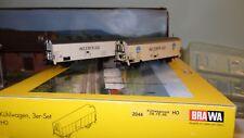 BRAWA 2044 Set due carri a 2 assi tipo Ibes 'INTERFRIGO' DB + NS