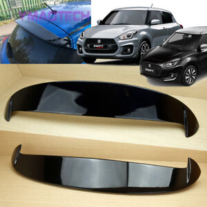 For SUZUKI Swift Sport Hatchback 5D Gloss Shiny Black Rear Spoiler 2017-2019 ABS