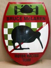 BRUCE McLAREN Emaille Schild Emailschild Enamel sign 38 x 50 cm