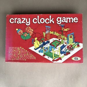 Crazy Clock Game from Ideal 1964 Complete