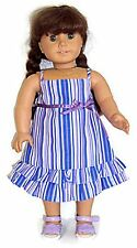 "Striped Sun Dress with Bow at Waist made for 18"" American Girl Doll Clothes"