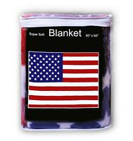 American Flag Polar Fleece Blanket NEW 5 x 4.2 ft Throw Cover United States U.S.