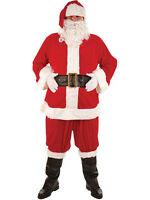 Adult 8 Piece Super Deluxe Santa Suit Father Christmas Xmas Fancy Dress Costume