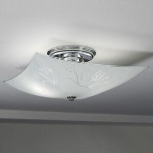 Semi-Flush Ceiling Light Featuring a Vintage Glass Shade New Custom Fixture