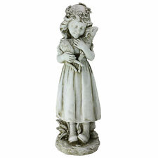 New listing Roman 16In Joseph's Studio Girl Holding a Lamb Religious Outdoor Garden Statue