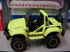 2014 Matchbox CLIFF HANGER ☆light Green jeep; 90 ☆ MBX EXPLORERS ☆New Loose