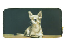 Dog Wallet - Chihuahua on both sides - Black