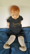 Antique 1800s Germany Composition Body Bisque Head Baby Doll Rabbit Pantaloons