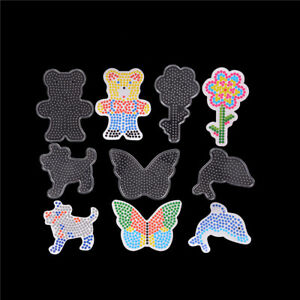 5pcs/set Mixed Patterns Puzzles For 5mm Hama Beads DIY Kids Craft Stencil  WH