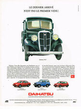 PUBLICITE ADVERTISING 124  1992  DAIHATSU    applause feroza charade