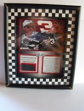 Dale Earnhardt Sr Framed Picture & Piece Of Authentic Tire From His Car! w/ COA!