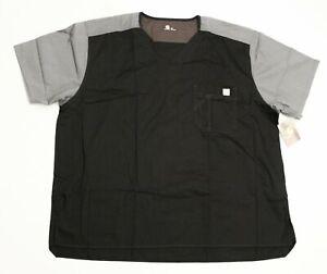 Carhartt Men's Color Block Short Sleeve Ripstop Scrub Top DG4 Black Size 2XL NWT