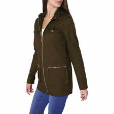 Dorothy Perkins Tall Khaki Utility Parka Jacket Size UK 12 DH078 FF 24