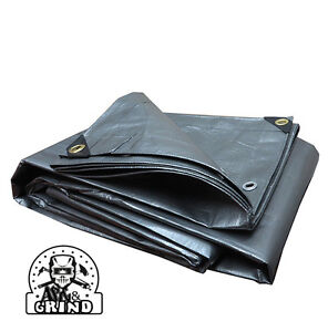 SILVER PREMIUM 14 MIL REINFORCED EXTREME HEAVY DUTY POLY TARP (CHOOSE YOUR SIZE)