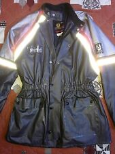 BELSTAFF mens waxed style nylon grey reflective jacket coat vtg Panther L XL