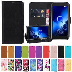 For Alcatel 3C 3V 2018 3 1C 1V 2019 New Stylish Leather Wallet Phone Case Cover