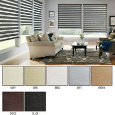 Window Blackout Blinds 100% Zebra Shade semi 2 Fabrics Anti Uv Custom Made