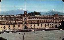 Acapulco Mexiko Postkarte frankiert ~1960 El Palacio Nacional y El Zocalo