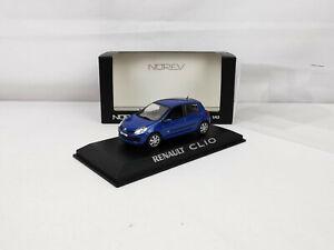 Renault Clio III 5 portes (2005-2014) bleu 1/43 Norev