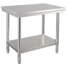 """24"""" x 36"""" Kitchen Silver Stainless Steel Commercial Work Food Prep Table Desk Us"""