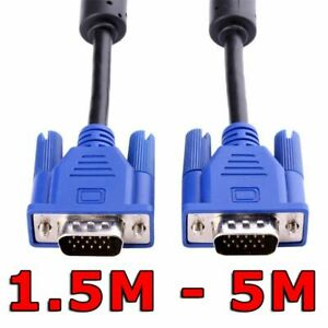 VGA 15pin Male to SVGA Male Cable PC Monitor Extension HDTV Coomputer LCD Screen