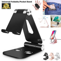 Universal Foldable Aluminum Desk Stand Adjustable Holder Fr iPhone Galaxy Tablet