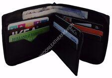 Men's Women's Wallet Nappa Leather Zip ID/Credit Card Money Holder + 2 FREE RIFD