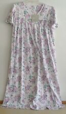 NWT ARIA LONG NIGHTGOWN-SZ LARGE-SHORT SLEEVE-WHITE FLORAL PRINT-$58-BEAUTIFUL!
