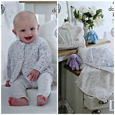 KNITTING PATTERN Baby's Easy Knit Textured Cardigan Jacket & Blanket DK KC 4794