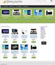 PAY PER BID AUCTION WEBSITE BUSINESS & FOR SALE! with LISTINGS and DROPSHIPPER