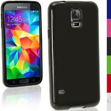 Nero Gel TPU Custodia per Samsung Galaxy S5 MINI SM-G800 Cover Skin + Pellicola