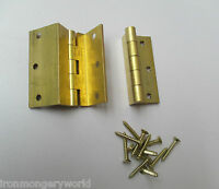 2 X SOLID BRASS-storm proof top hung window hinge cranked casement window door