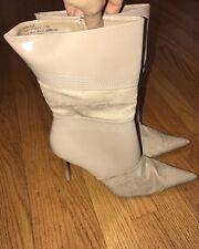 HOT TOMATO Faux Patent Leather Suede High Heels Stilettos Women Shoes Sz 9.5 #