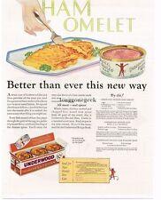 1927 Underwood Deviled Ham Omelet Vtg Print Ad with recipe