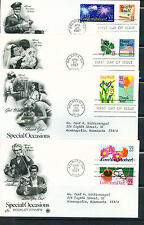 1987 FDC Set of 4 - Scott# 2267-74 - Special Occasions - PCS Cachet   ADD
