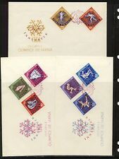 Romania  1597-1604  Olympic stamps imperforate stamps on cover        a1115-09